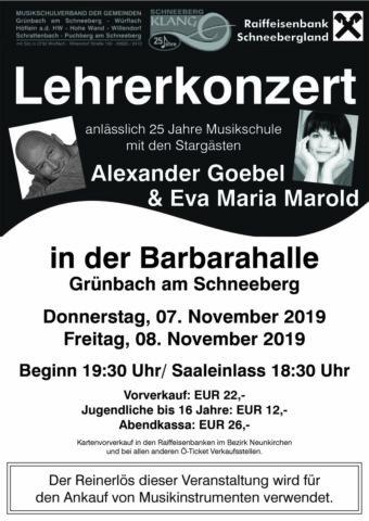 Plakat Lehrerkonzert 2019